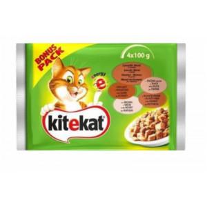 KITEKAT hrana za mačku, jagnjetina i zečetina 4x100g 520172