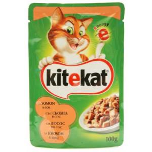 KITEKAT hrana za mačku, losos 100g 520008