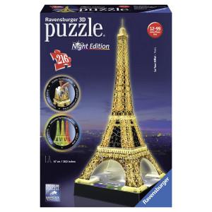 RAVENSBURGER 3D puzzle (slagalice) - Ajfelov toranj noću RA12579