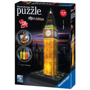 RAVENSBURGER 3D puzzle (slagalice) -  Big ben noću RA12588