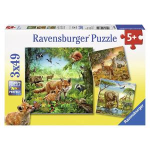 RAVENSBURGER puzzle - Životinje u divljini RA09330