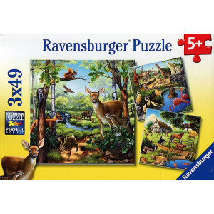 RAVENSBURGER puzzle - Životinje u prirodi RA09265