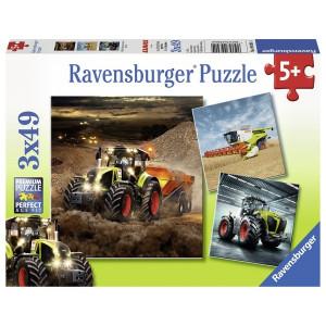 RAVENSBURGER puzzle - Traktori, radne mašine RA09301