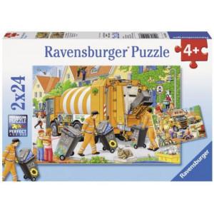 RAVENSBURGER puzzle - Đubretarci na radnom zadatku RA09192