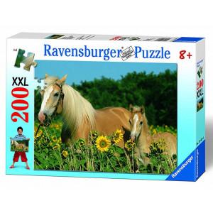 RAVENSBURGER puzzle (slagalice) - Konji i suncokreti RA12628