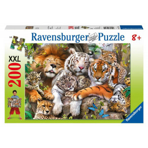 RAVENSBURGER puzzle (slagalice) - Velike mačke dremaju RA12721