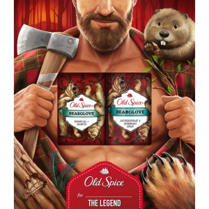 OLD SPICE GIFT Bearglove AP Spray+SG SEE