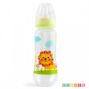 ELFI plastična flašica sa silikonskom cuclom 250ml RK04 LAV