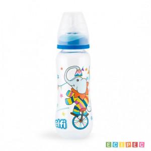 ELFI plastična flašica sa silikonskom cuclom 250ml RK02 - plava