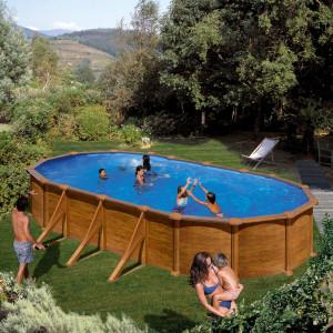 PONTAQUA WOOD STAR porodični bazen 7,3x3,75x1,32 m FFA 773