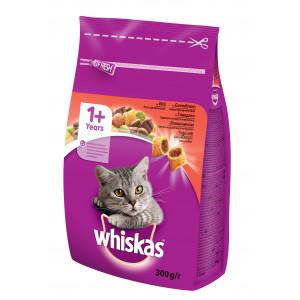 WHISKAS hrana za mačku, briketi, govedina 300g