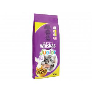 WHISKAS hrana za mačku, briketi Junior, piletina 14kg 520216
