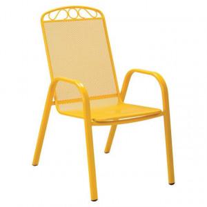 MELFI metalna stolica žuta 051123