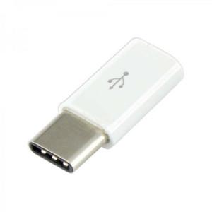 S BOX adapter Micro USB F- Type C M (white)