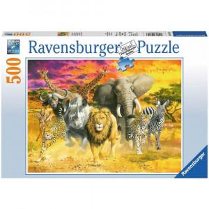 RAVENSBURGER puzzle (slagalice) - afrička družina RA14724