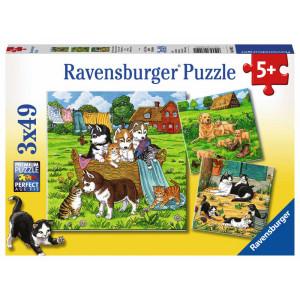RAVENSBURGER puzzle (slagalice) - mladunci na farmi RA08002