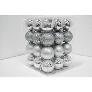 Novogodišnji  set PVC kugle 36/1 srebrni 19003