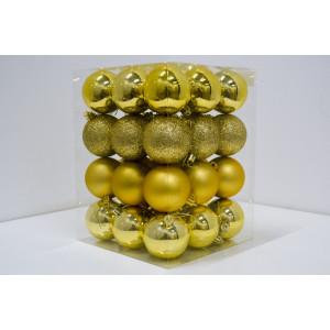 Novogodišnji  set PVC kugle 36/1 zlatni 19002