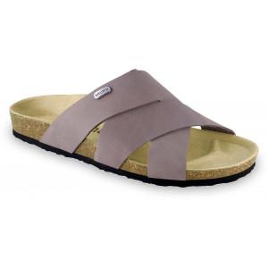 GRUBIN muške papuče 1554010 Morandi Sive 40