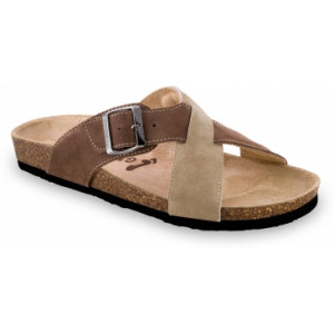 GRUBIN muške papuče 1084010-BORSALINO, Svetlo Braon 40