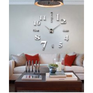 3D Samolepljivi zidni sat T4311S