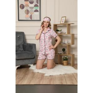 Pidžama ženska na raskopčavanje kratka 5587-11 XL*