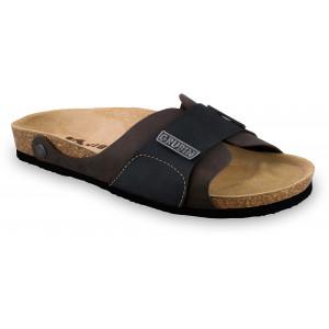 GRUBIN muške papuče 1594010 DARKO Tamno-Braon 40