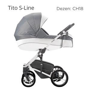 BEBETTO Tito CH kolica za bebe, set 3u1 DEZEN CH18 + krevetac GRATIS
