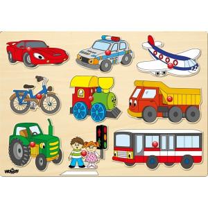 WOODY Puzle - transportna vozila 91906
