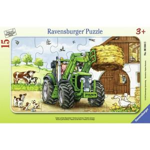 RAVENSBURGER puzzle (slagalice) - Traktor na farmi RA06044