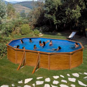 PONTAQUA WOOD ovalni porodični bazen 6,10x3,75x1,2 m FFA 781