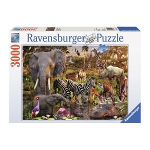 RAVENSBURGER puzzle - Afričke životinje 3000 RA17037