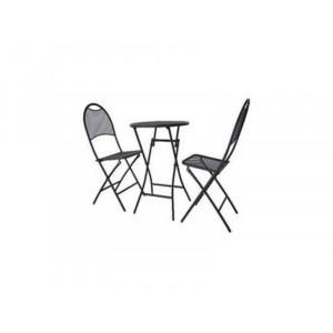 Metalni balkon set sklopivi sto + 2 stolice 51196