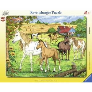 RAVENSBURGER puzzle - konji na farmi RA06646