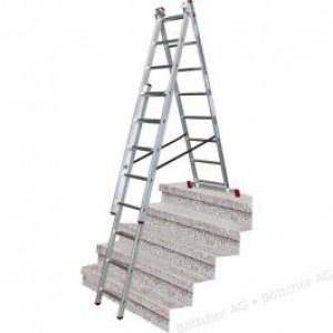KRAUSE merdevine aluminijumske sa funkcijom stepenika 3x8 Corda 033383
