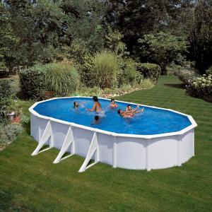 PONTAQUA porodični ovalni bazen 7,3x3,75x1,2m FFA 753