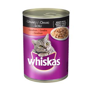 WHISKAS hrana za mačku konzerva, govedina 400g 520097