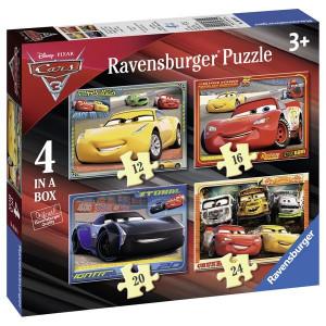 RAVENSBURGER puzzle - Cars, 4 u 1 RA06894