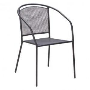 ARKO baštenska metalna stolica siva 051116