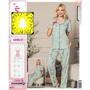 Pidžama ženska na raskopčavanje 5595-7 L***K