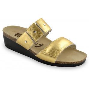 GRUBIN ženske papuče 1253690 LUISA Zlatne