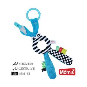 MOM'S CARE zvečka ogledalo plava 750
