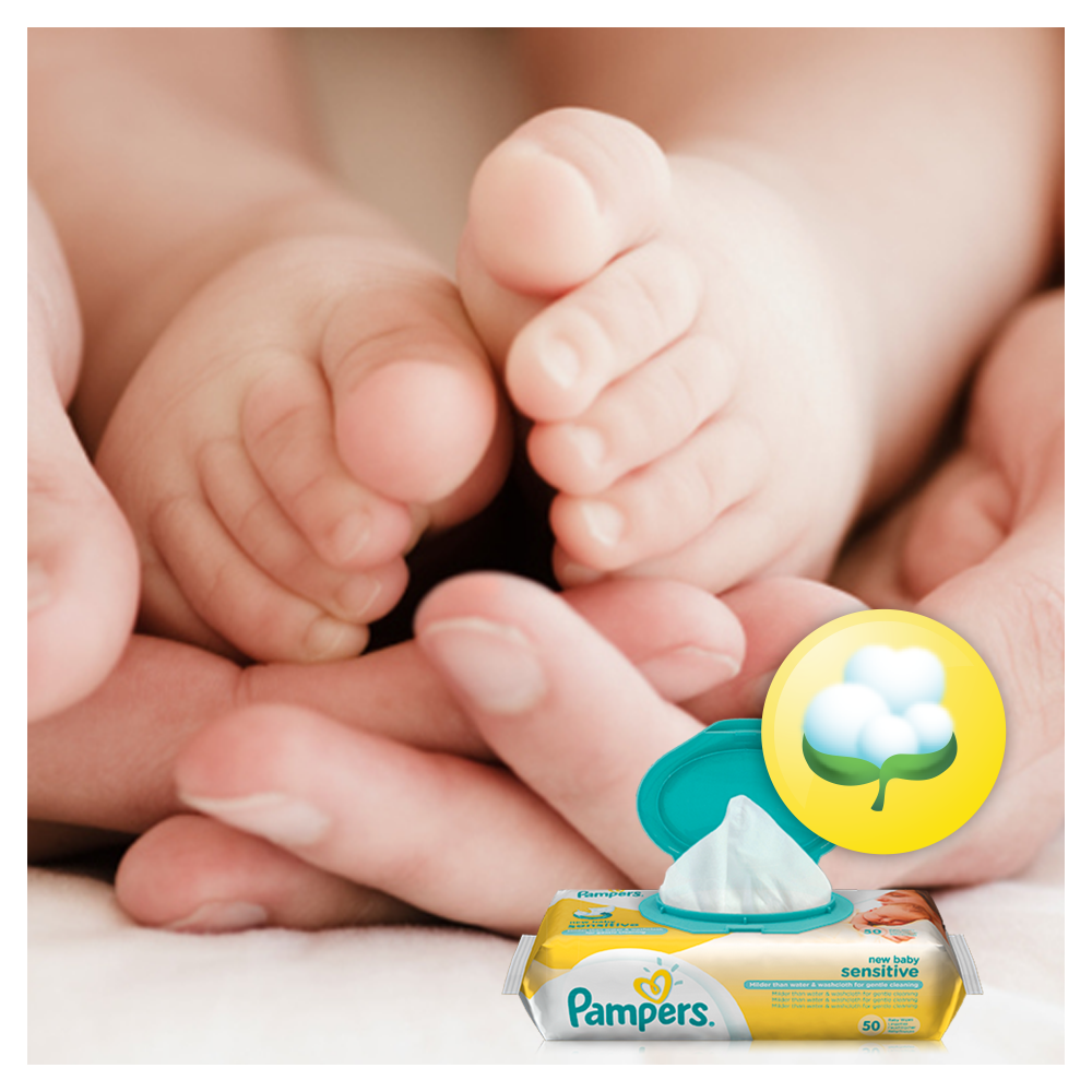 PAMPERS WIPES 2X56 SENSITIVE