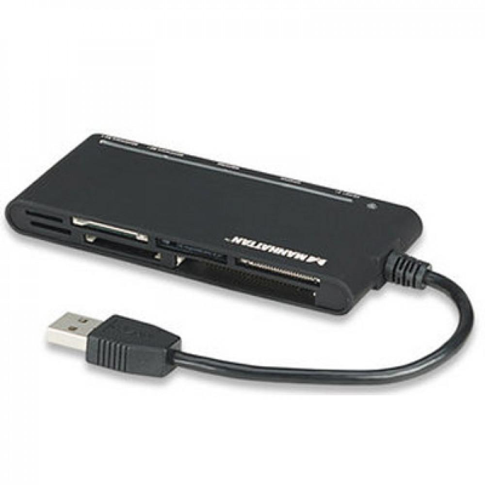 MANHATTAN čitač kartica / pisač 62-u-1, Hi-Speed USB