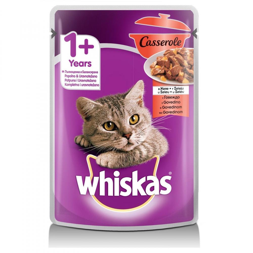 WHISKAS hrana za mačku, Govedina 85g 520248
