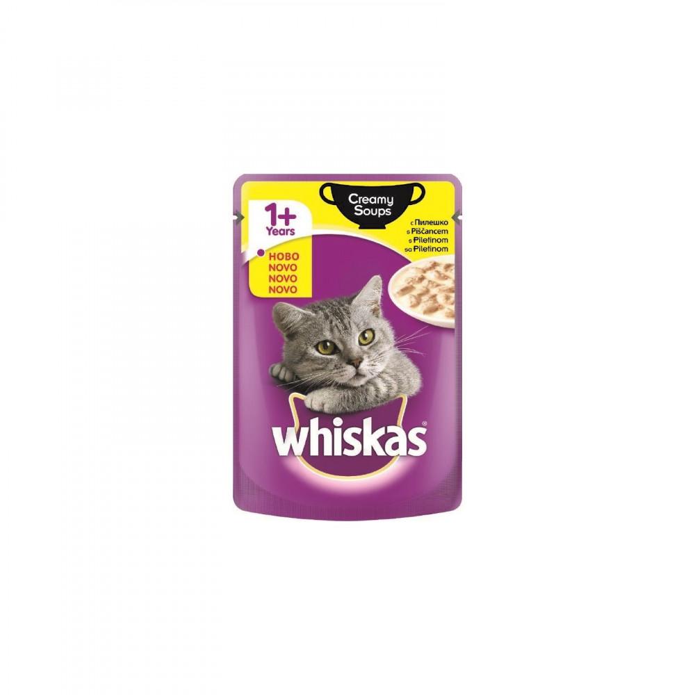 WHISKAS hrana za mačku, kesica, Creamy Soups piletina 85g 520241
