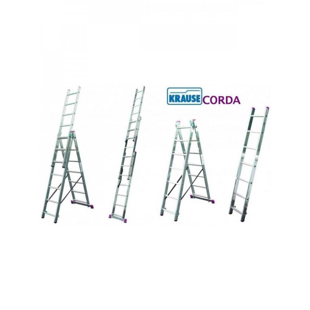 KRAUSE Merdevine aluminijumske 3x7 Corda 030375
