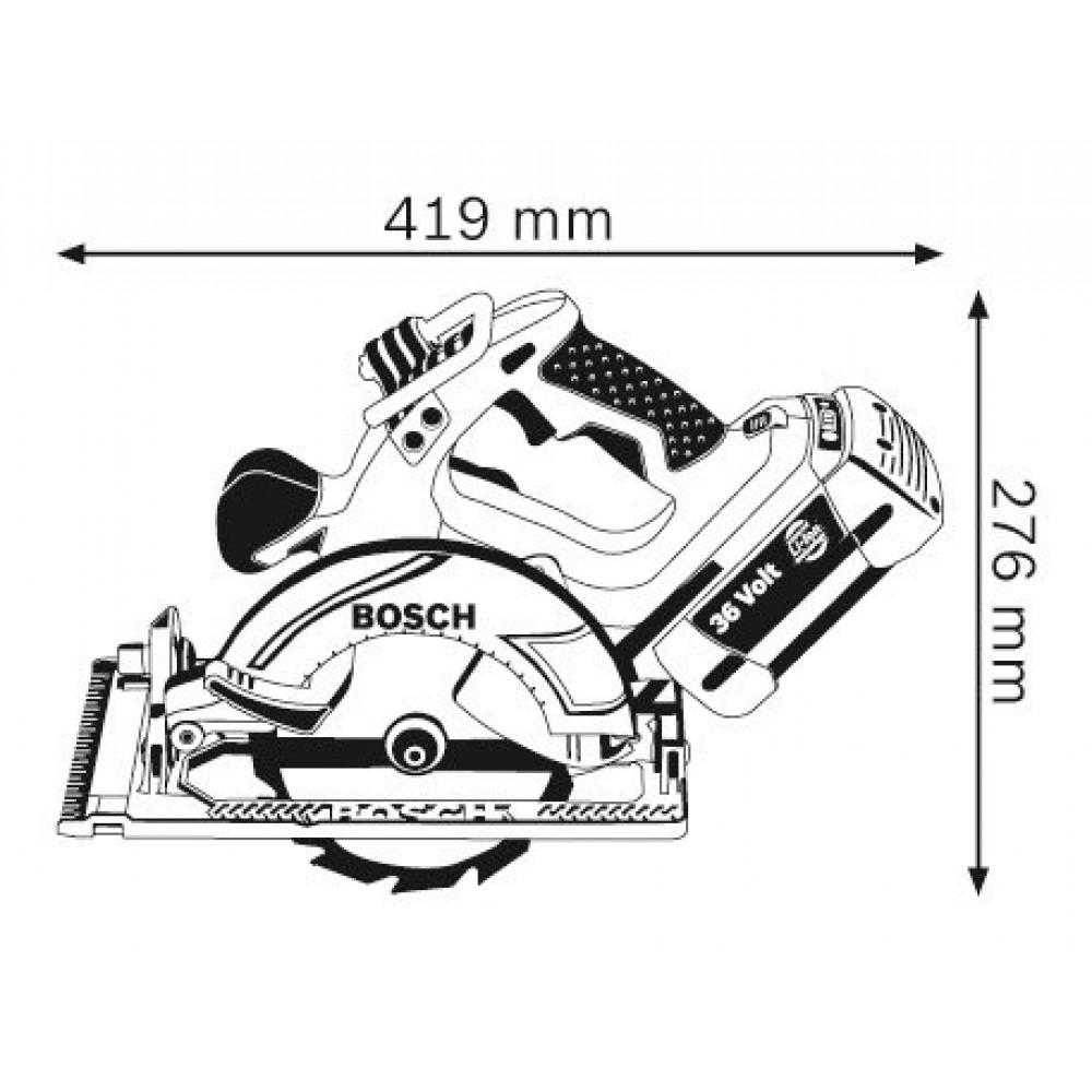 BOSCH akumulatorska kružna testera GKS 36 V-Li 0601673R02