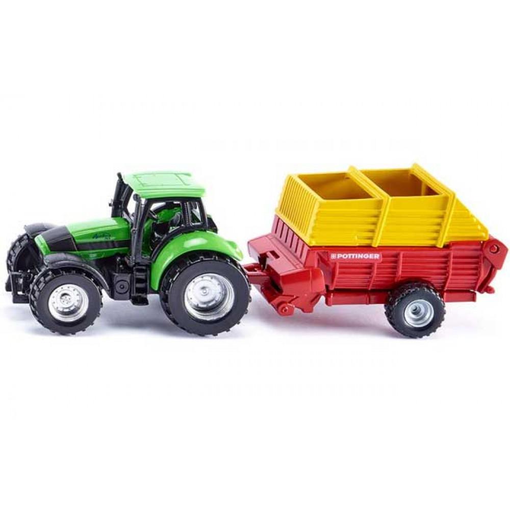 SIKU traktor sa tovarnim vagonom 1676