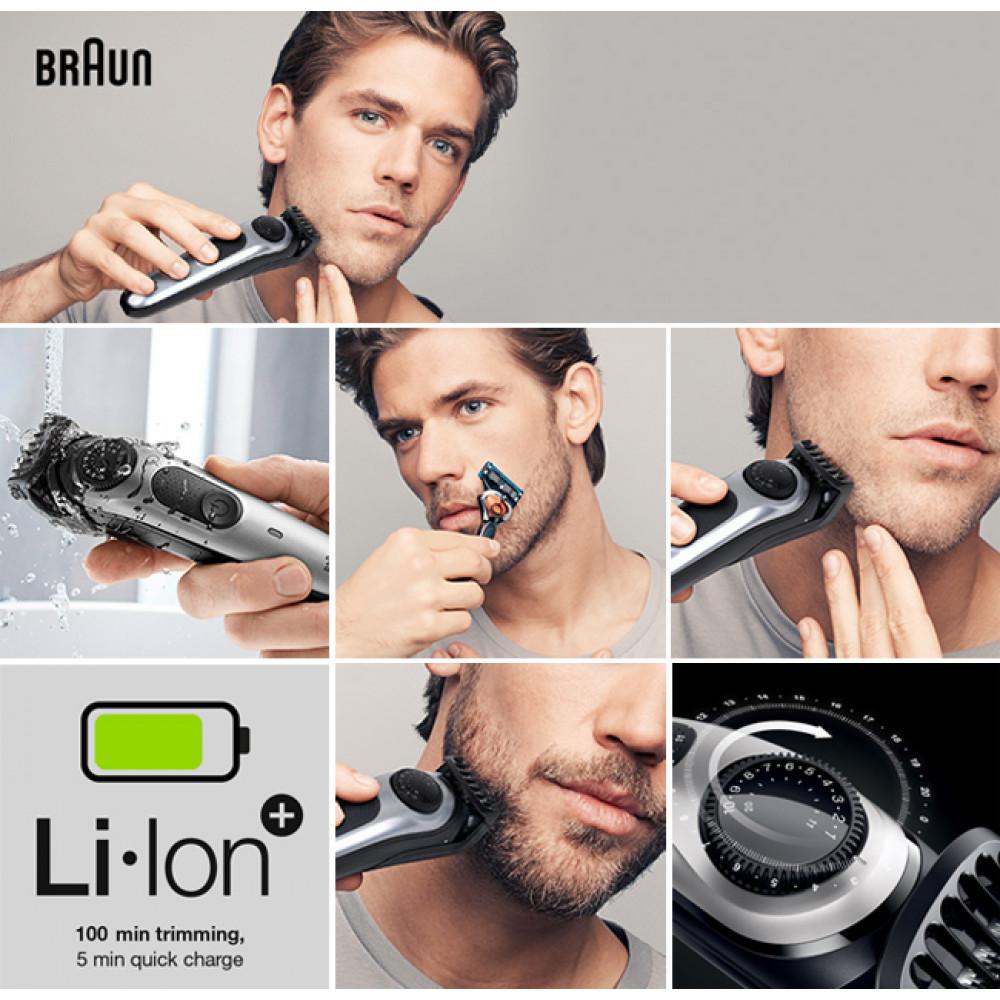 BRAUN Trimer za kosu i bradu sa punjivom baterijom BT5060 BK/MTSILV +RZR WBOX